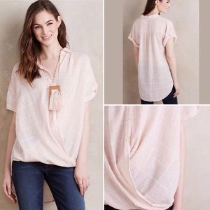 Anthropologie Isabella Sinclair Pink Plaid Top